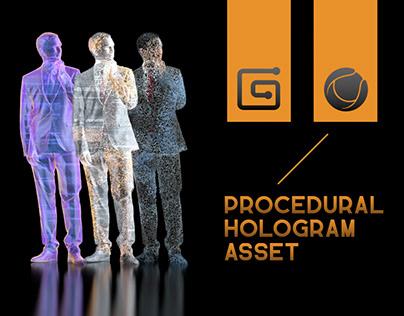 Procedural Hologram Effect [C4D]