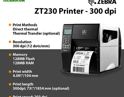 High quality ZT230 Series Industrial Printers 300 dpi