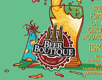Beer Boutique Poster de Aniversario
