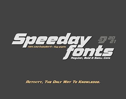 Speeday fonts
