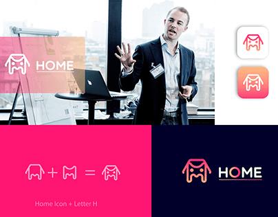 Real Estate Home Property Branding Logo Design