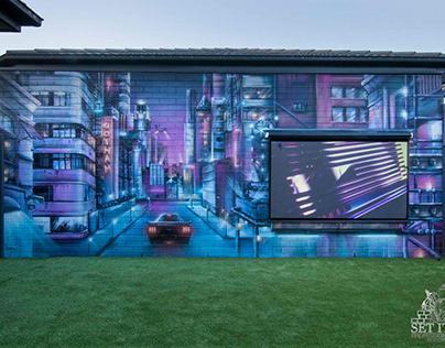 Cityscape Mural X Outdoor Cinema