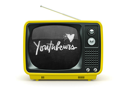 Vrak.tv Youtubeurs ad - Lettering, graphic design