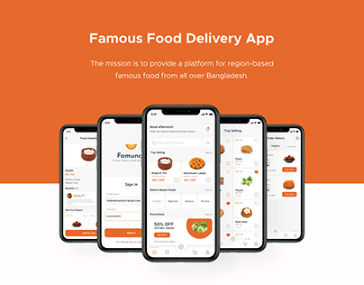 Famunch - Food Delivery App Case Study in Behance 2021