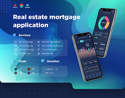 Real estate mortgage loans dashboard mobile app design