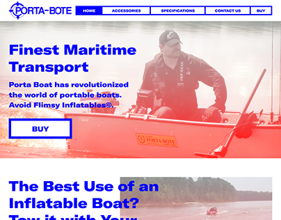 Porta Bote Website Redesign