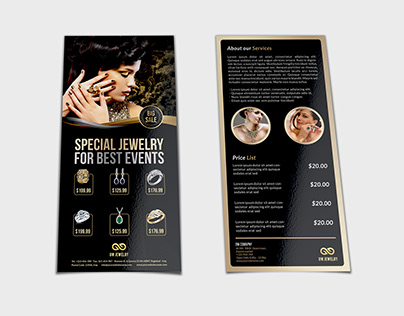 Jewelry Flyer Templates DL Size Vol2