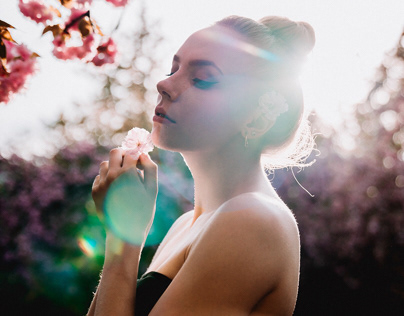 Blossom and light with Antonia