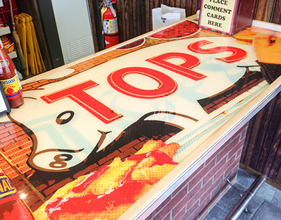 Memphis' Tops Bar-B-Q Counter Design