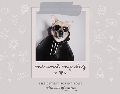 Me and my dog handwritten script font family