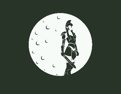 Woman Warrior Logo Concept