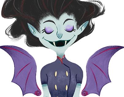 Vampire Girl - Character Design