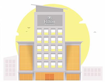 Hilton Hotels - Gif Animations