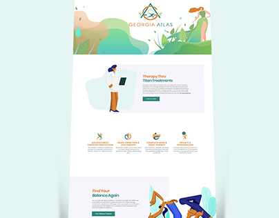 Landing Page & Character Deisgn