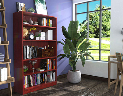 Cherry bookcase to cultivate your reading habits