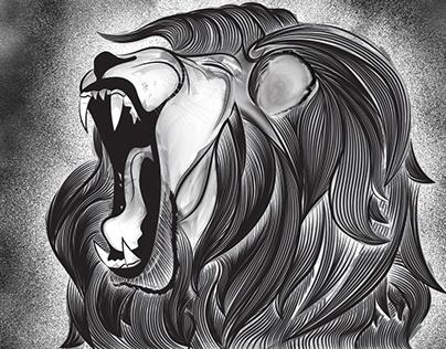 Lion-Vector Illustration