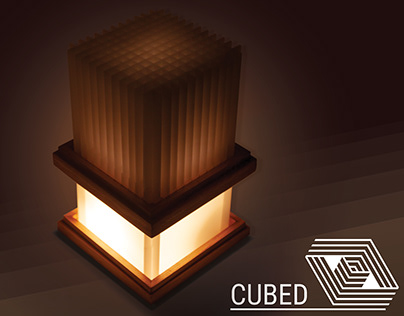 CUBED desktop lamp