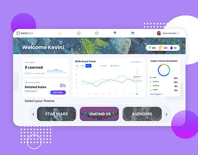 MathFlick | Dashboard Design