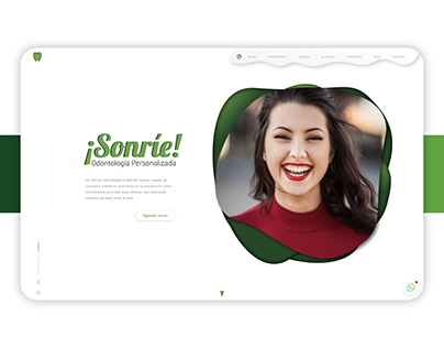 Dental clinic web design - Clínica Pedretti
