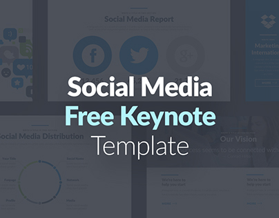 Free Keynote Template  Social Media Presentation On Behance