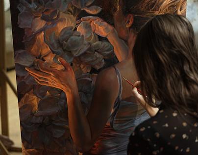 """""""Lightness V"""" oil on canvas 100x70cm"""