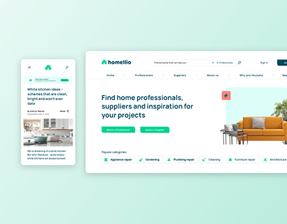 An online platform for homeowners - Homellio