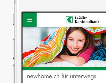 Mobile Website St.Galler Kantonalbank