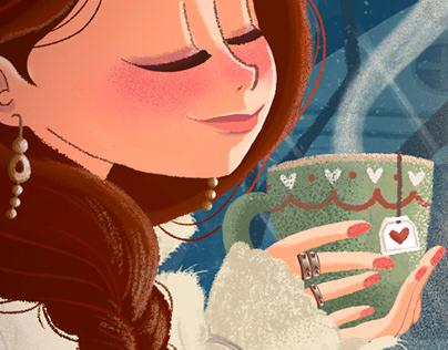 Girls illustrations for magazines