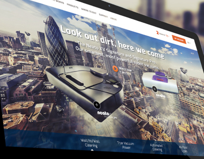 Neato robotics - web design