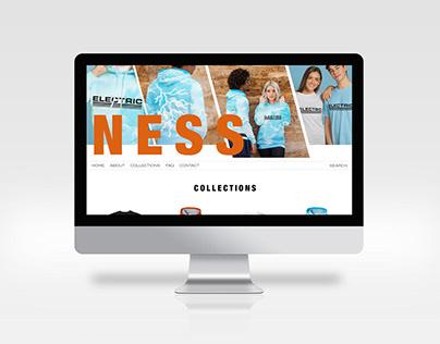 Ness Website Mockup