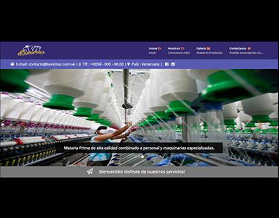Página Web para fabrica de uniformes industriales