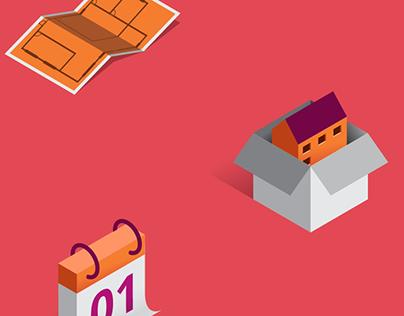 Maisons de Qualité - Isometric illustrations