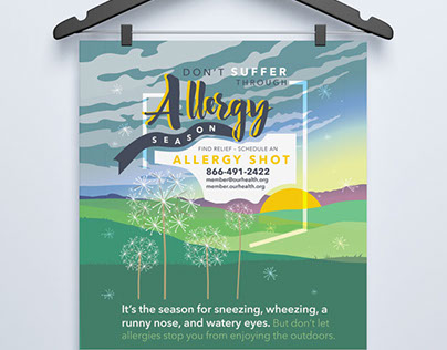 Allergy Shot Poster + Table Tents