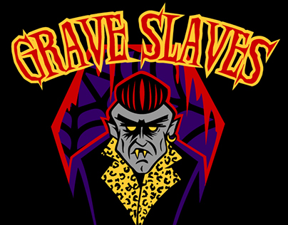 Artwork for horror\psycho band Grave Slaves