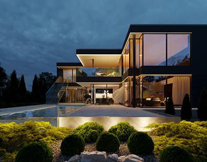 Modern villa (design by LK&Projekt)