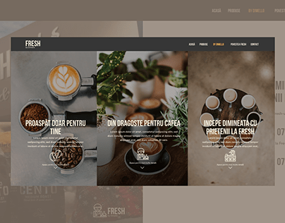 Fresh - Coffee to go concept landing page