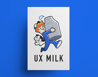 """UX MILK Character Design """"MILKBOY&USHI"""""""
