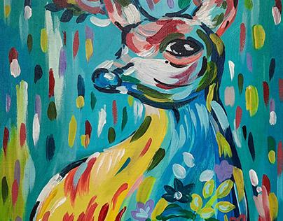 Acrylic on Canvas - Animal Illustration