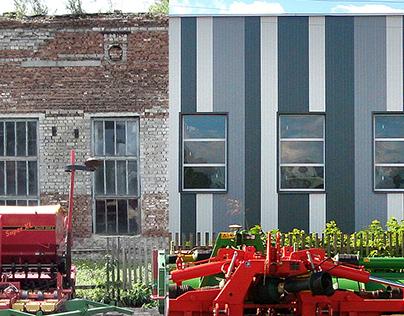 Реконструкция здания мехмастерской под офис