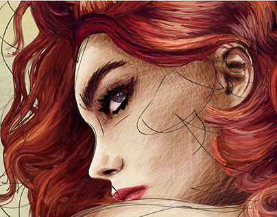"Illustration Aime Bijoux ""pin-up"""