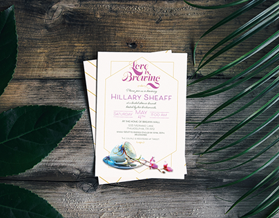 A Modern Bridal Shower Invitation