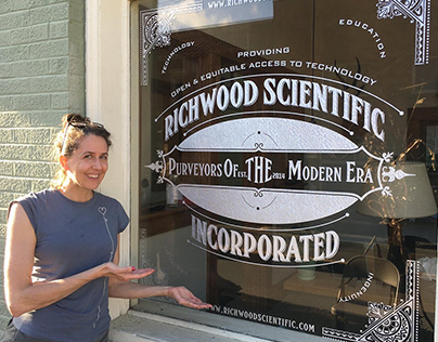 Richwood Scientific Window Decal Design