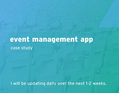 Event Management App Case Study - In Progress