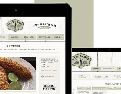 Fork and Cork Website Design