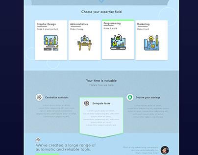[Web] Simple Homepage Template