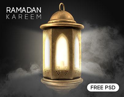 Ramadan Kareem Celebration Card - Free PSD download