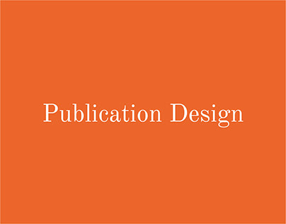 Editorial Layout Design & Brochures