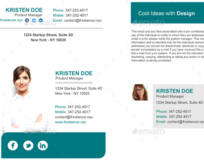 800 email signatures template designs with html on behance maxwellsz