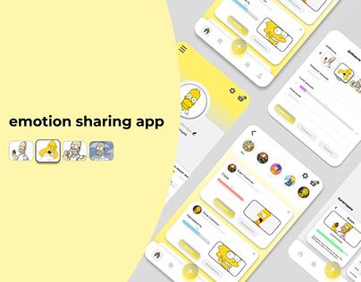 Emotion sharing app (приложение по обмену эмоциями)