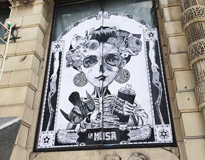 La Musa - Wheatpaste murals